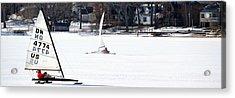 Ice Yacht Race Acrylic Print