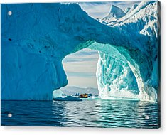 Iceberg Arch - Greenland Travel Photograph Acrylic Print by Duane Miller