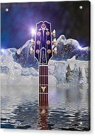 Acrylic Print featuring the digital art Iceberg Blues by WB Johnston