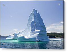 Acrylic Print featuring the photograph Iceberg Canada by Liz Leyden
