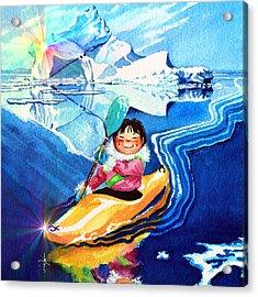 Iceberg Kayaker Acrylic Print