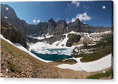 Acrylic Print featuring the photograph Iceberg Lake by Aaron Aldrich