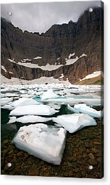 Acrylic Print featuring the photograph Iceberg Lake by Aaron Whittemore