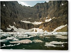 Iceberg Lake Acrylic Print by Natural Focal Point Photography