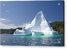 Acrylic Print featuring the photograph Iceberg Newfoundland Canada by Liz Leyden