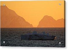 Iceberg Ship Acrylic Print by DerekTXFactor Creative