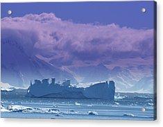 Iceberg Shipwreck Acrylic Print by DerekTXFactor Creative