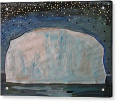 Acrylic Print featuring the painting Iceberg by Vikram Singh