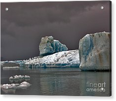 Acrylic Print featuring the photograph Icebergs Of Leconte Glacier by Cynthia Lagoudakis