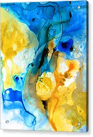 Iced Lemon Drop - Abstract Art By Sharon Cummings Acrylic Print by Sharon Cummings