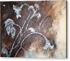 Acrylic Print featuring the painting Iced Lilies by Tamara Bettencourt