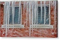 Iced Over Acrylic Print by Steve Ohlsen