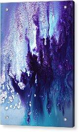 Icefall Abstract Art Photography By Serg Wiaderny Acrylic Print by Serg Wiaderny