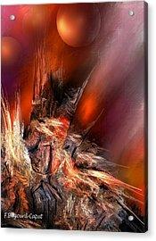 Icefire Acrylic Print by Francoise Dugourd-Caput