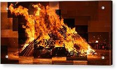 Iceland Bonfire Acrylic Print