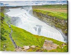Gullfoss Waterfall Iceland Acrylic Print