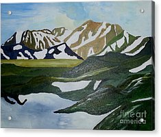 Iceland Mountains Acrylic Print