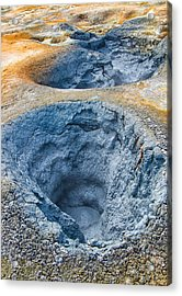 Iceland Natural Abstract Mudpot And Sulphur Acrylic Print by Matthias Hauser