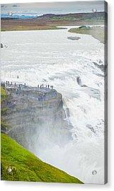 Gullfoss Waterfall Iceland Zoom Acrylic Print