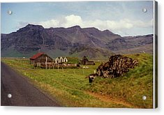 Acrylic Print featuring the photograph Icelandic  Cottage by Debra Kaye McKrill