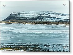 Icelandic Winter Landscape Acrylic Print