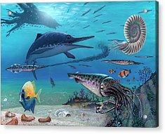 Ichthyosaur And Prey Acrylic Print
