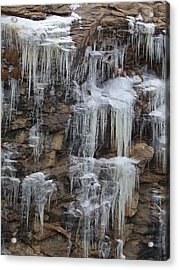 Acrylic Print featuring the photograph Icicle Cliffs by Shane Bechler