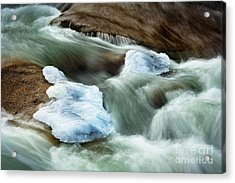 Icicle Creek Acrylic Print by Inge Johnsson
