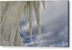 Icicle View Acrylic Print by Dan Sproul