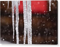 Icicles Acrylic Print by Denice Breaux