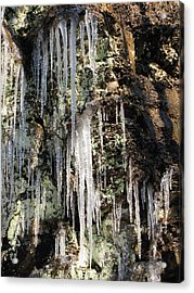 Icicles Acrylic Print by Melissa Stoudt
