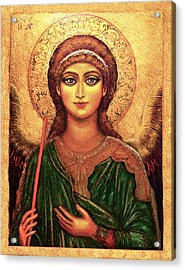 Icon Angel Acrylic Print by Ananda Vdovic