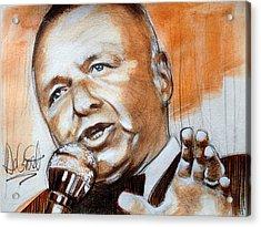 Icon Frank Sinatra Acrylic Print by Gregory DeGroat