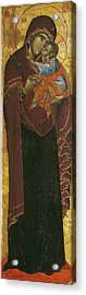 Icon Known As The Virgin Of Tsar Dushan, C.1350 Tempera On Panel Acrylic Print
