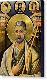 Icon Of Holy Apostle Peter Acrylic Print