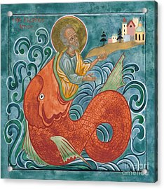 Icon Of Jonah And The Whale Acrylic Print by Juliet Venter