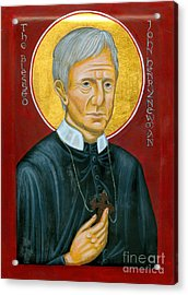 Icon Of The Blessed John Henry Newman Acrylic Print by Juliet Venter