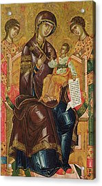 Icon Of The Virgin And Child With Archangels And Prophets Acrylic Print by Longin