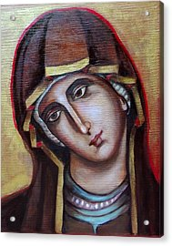 Icon Of Virgin Mary Acrylic Print