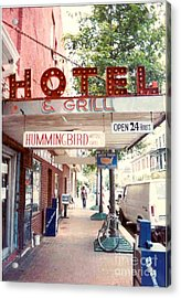 Iconic Landmark Humming Bird Hotel And Grill In New Orelans Louisiana Acrylic Print by Michael Hoard