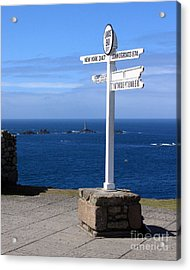 Acrylic Print featuring the photograph Iconic Lands End England by Terri Waters