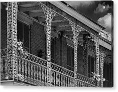 Iconic New Orleans Wrought Iron Balcony Acrylic Print