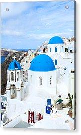 Iconic Oia - Santorini - Greece Acrylic Print