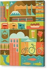 Iconic Portland Acrylic Print