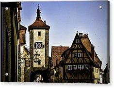 Iconic Rothenburg Acrylic Print by Joanna Madloch