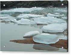 Icy Beach Acrylic Print by Jill Laudenslager