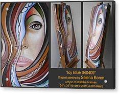Icy Blue 040409 Comp Acrylic Print