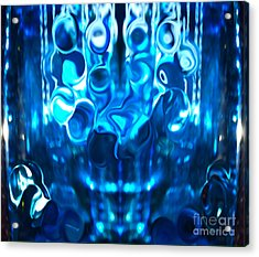 Icy Blue Cool Acrylic Print