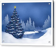 Acrylic Print featuring the digital art Icy Blue by Scott Ross