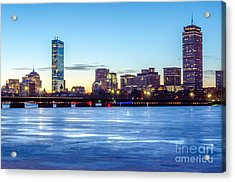 Icy Boston At Dawn Acrylic Print by Mike Ste Marie